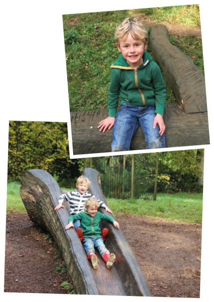 Children playing on the climbing frame