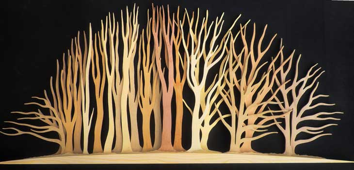 Tree sculpture by Cotswold Edge Group