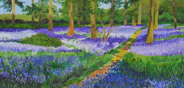 Bluebell path by Mixed Palette