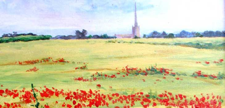 Tetbury poppies by Sue Townsend